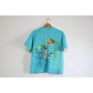 Vintage Shirts - Vintage Tropical Fish T Shirt